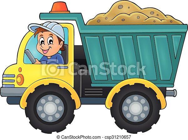 1, 砂, トラック, 主題, イメージ - csp31210657