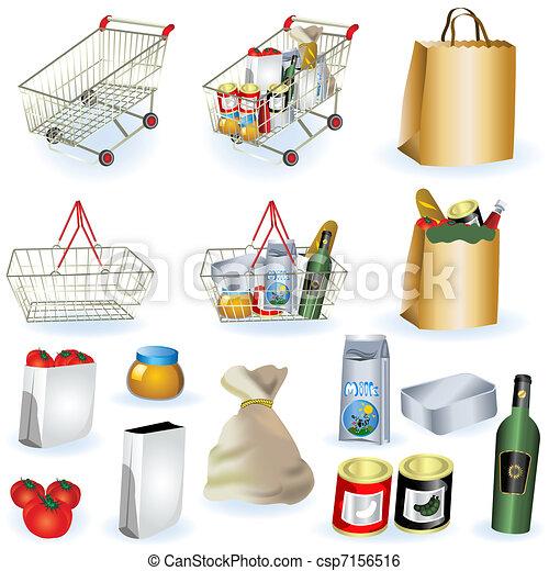 1, 超級市場, 圖象 - csp7156516