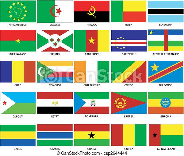 25 afrikanische Flaggen 1 - csp2644444