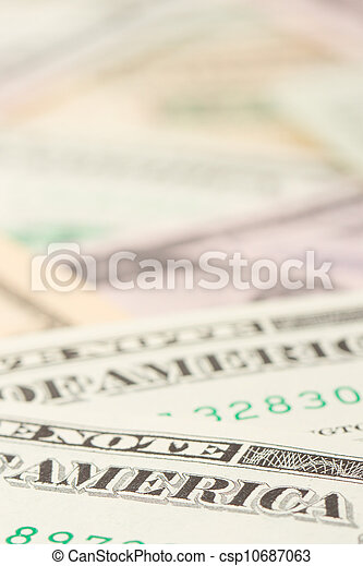 1, 5, 10 and 20 US Currency - csp10687063