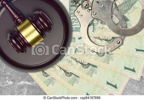 1, action éviter, procès, ou, desk., concept, impôt, judiciaire, vrai, police, tribunal, factures, menottes, juge, bribery., brésilien, marteau - csp84187699
