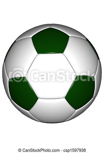 1 Alt Fussball Green Kugel
