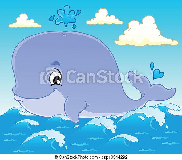 1, baleia, tema, imagem - csp10544292