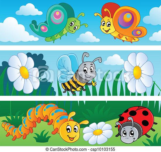 Los estandartes de insectos cobran 1 - csp10103155