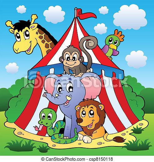 1, bild, thema, zirkus - csp8150118