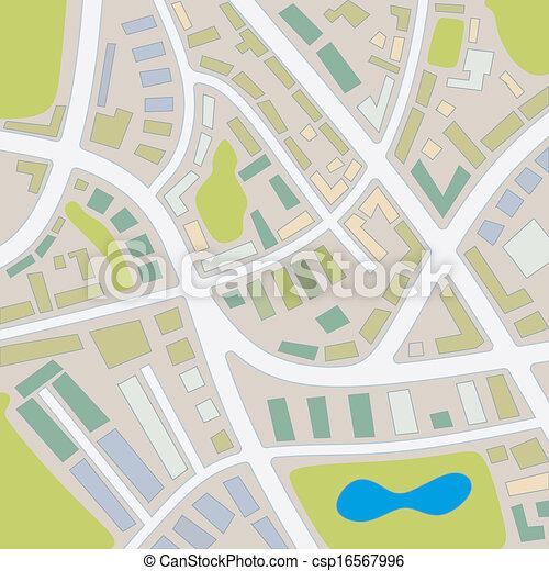 1, carte ville - csp16567996