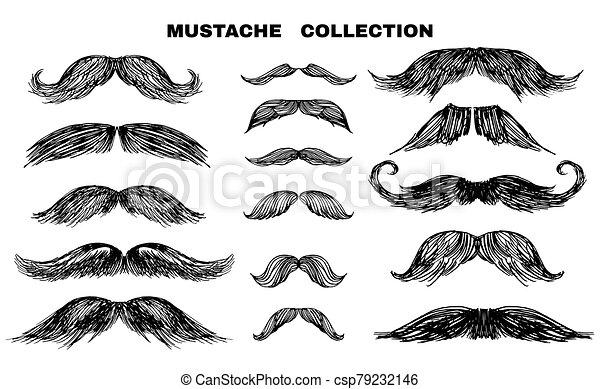 1, collection, moustache - csp79232146