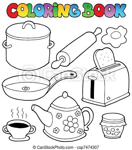 1, coloração, doméstico, livro, cobrança - csp7474307