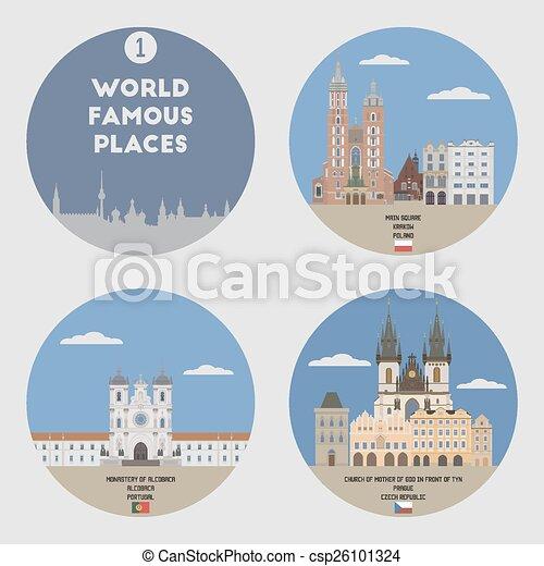 Lugares famosos. Set 1 - csp26101324