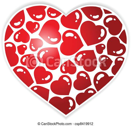 1, coração, tema, imagem - csp8419912