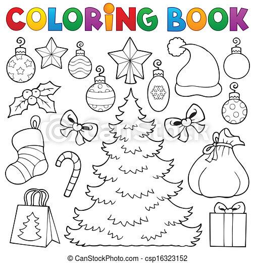 Farbbuch Weihnachtsdekor 1 - csp16323152