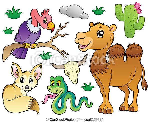 1, dieren, woestijn, verzameling - csp8320574