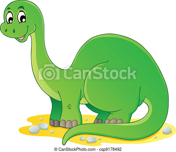 1, dinossauro, tema, imagem - csp9178492