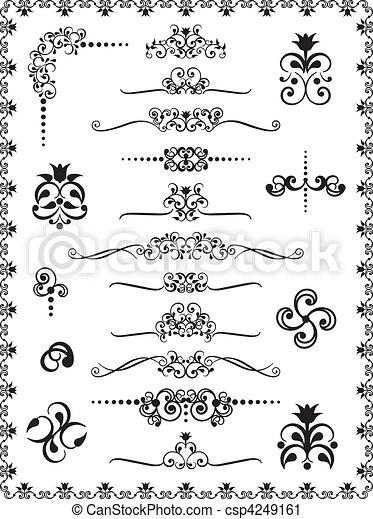 Diseño de adornos 1 - csp4249161