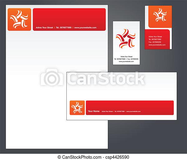 1, -, disegno, sagoma, intestazione - csp4426590