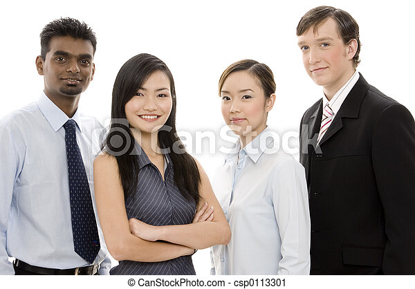 Diverso equipo de negocios 1 - csp0113301