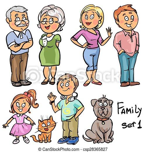 1, ensemble, -, famille - csp28365827