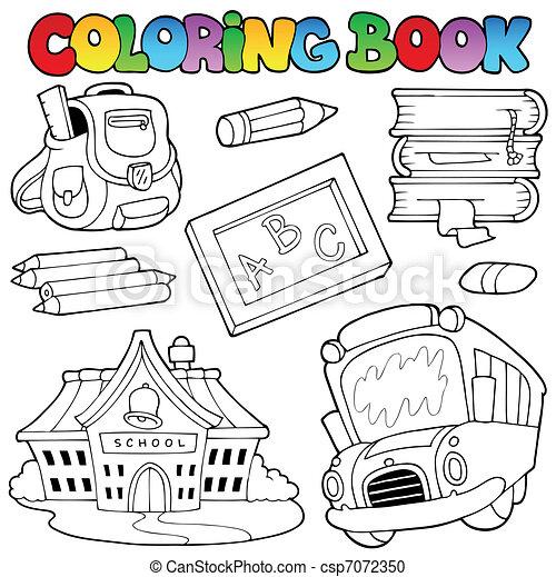 1, escola, tinja livro, cobrança - csp7072350