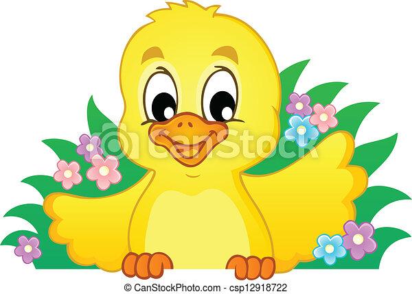 1, galinha, tema, imagem - csp12918722
