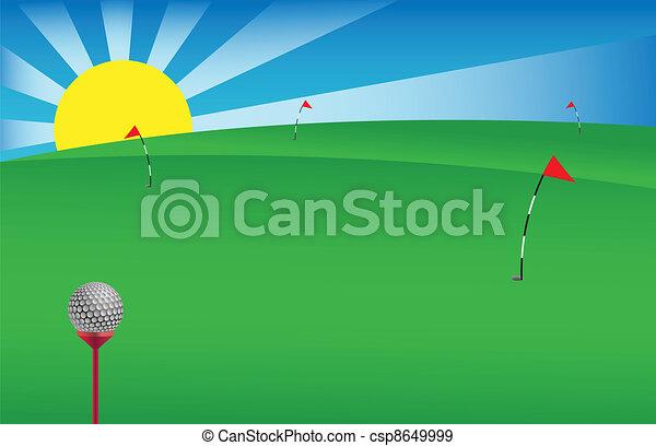 1, golf, bannière - csp8649999