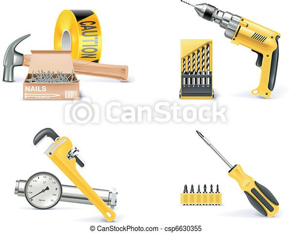 Vector de construcción de casas e innovación. 1 - csp6630355