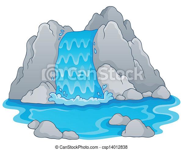 1, image, chute eau, thème - csp14012838