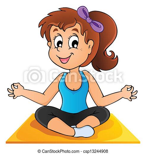 1, immagine, yoga, tema - csp13244908