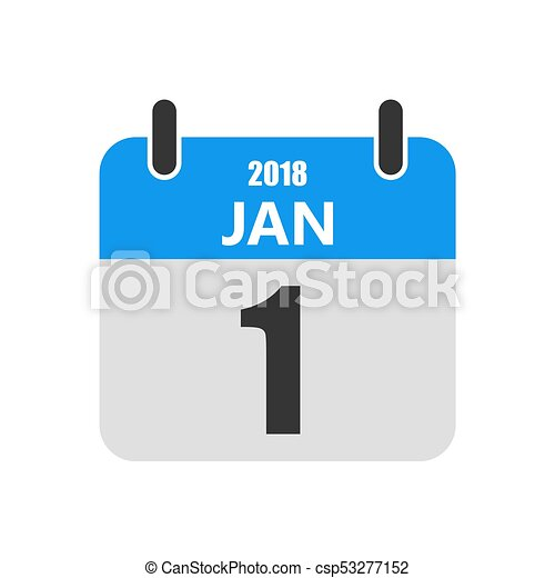 1 january calendar icon vector illustration