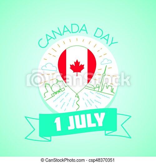 1, juli, kanada dag - csp48370351