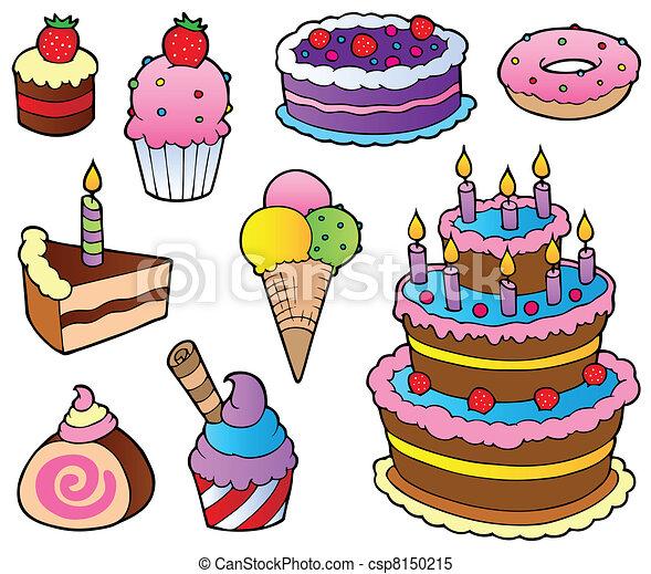 tegninger af kager