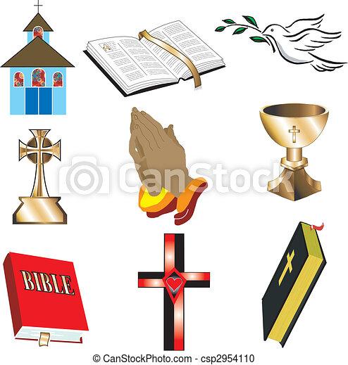 Kirchensymbole 1 - csp2954110