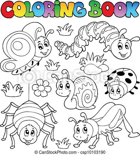 Libros de color lindos bichos 1 - csp10103190
