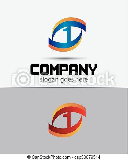 1, logo, eins, zahl, ikone - csp30079514