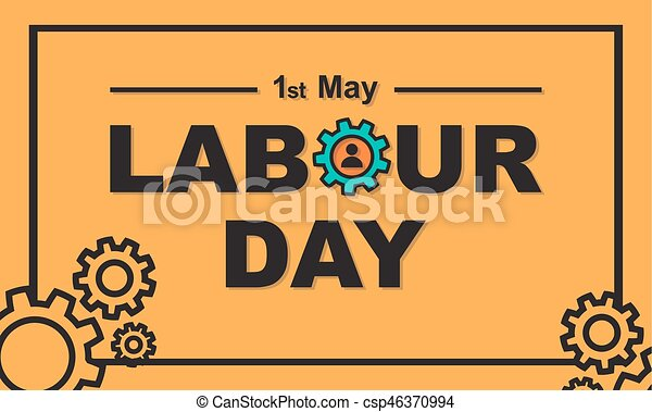 1 may labour day greeting card or background flat design eps 1 may labour day greeting card or background csp46370994 m4hsunfo