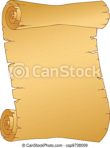 1, ouderwetse , beeld, perkament - csp9738009