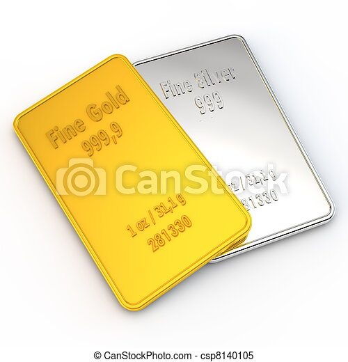 1 ounce of Gold and Silver - csp8140105