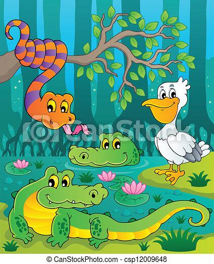 1, pântano, tema, imagem - csp12009648