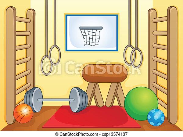 1, palestra, sport, tema, immagine - csp13574137