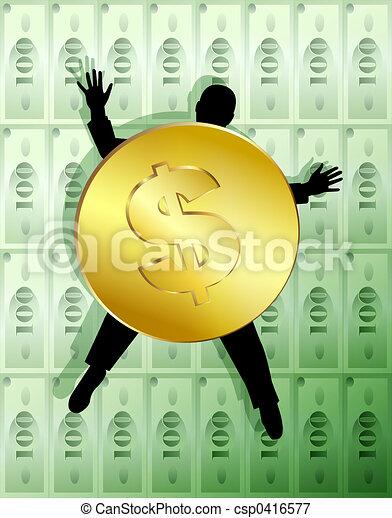1, pengar, allegori - csp0416577