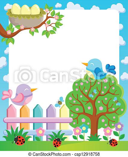 1, primavera, cornice, tema - csp12918758