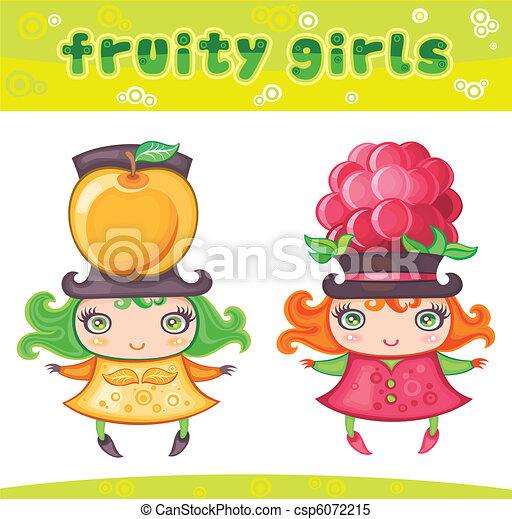 1, reeks, meiden, fruitig - csp6072215