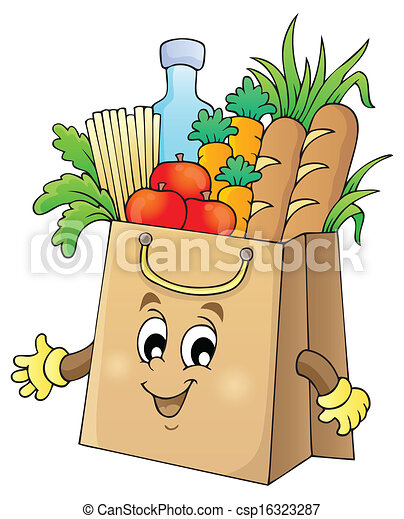 1, saco, tema, shopping, imagem - csp16323287