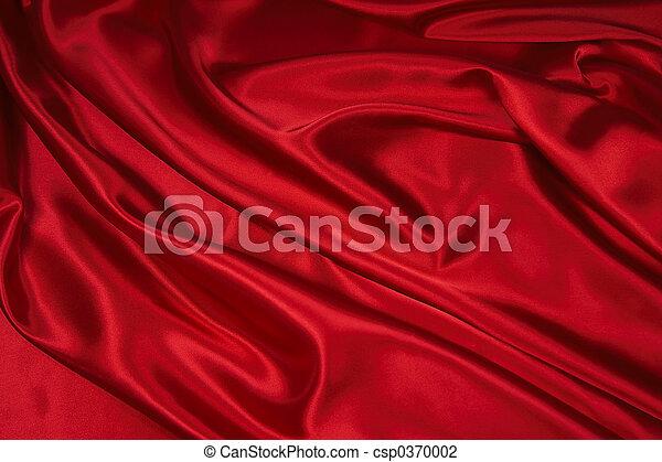 1, satin/silk, stoff, rotes  - csp0370002