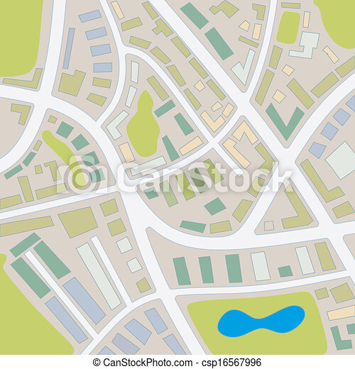 1, stadtlandkarte - csp16567996