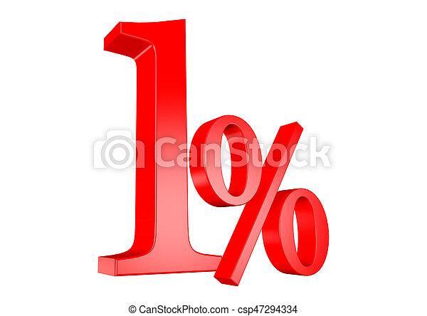 1% - csp47294334