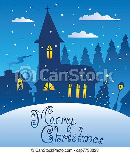 Feliz Navidad, escena 1 - csp7733823