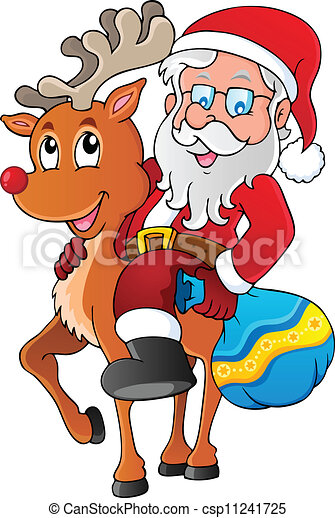 Santa Claus imagen temática 1 - csp11241725