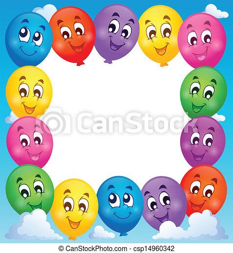 1, tema, balões, quadro - csp14960342
