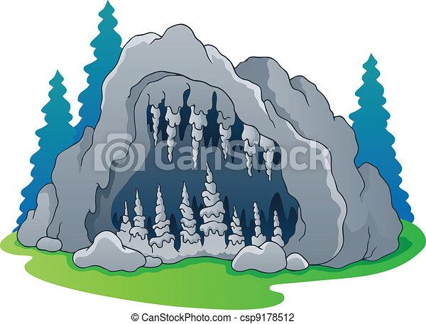 1, tema, caverna, imagem - csp9178512
