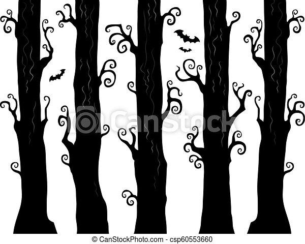 1, tema, dia das bruxas, floresta, imagem - csp60553660